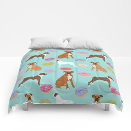 Boxer donuts cute gifts for pure breed dog lover Boxers dog owners Comforters