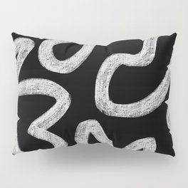 Faded Black and White Minimal Abstract Pillow Sham