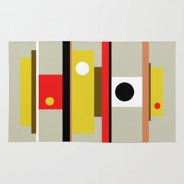 Mid Century Geometric Art Design Rug