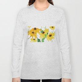 yellow sun choke flower Long Sleeve T-shirt