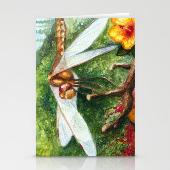 Amber Dragonfly Stationery Cards