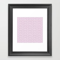 Art Deco Lavender Fields by Friztin Framed Art Print