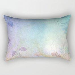 Watercolor Fantasy Garden Rectangular Pillow