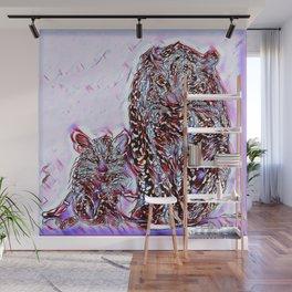 Big Cat Models: Magnified Snow Leopard and Cub 01-02 Wall Mural