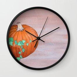 Pumpkin and Ivy Wall Clock