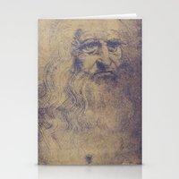da vinci Stationery Cards featuring Da Vinci by LK Winwright