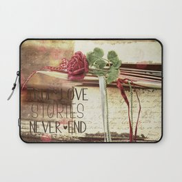 True love stories never end Laptop Sleeve