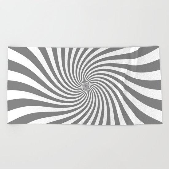 Swirl (Gray/White) Beach Towel
