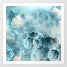 """""""Cotton clouds blue Heaven"""" Art Print"""