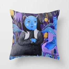 MOON'S GIRL Throw Pillow