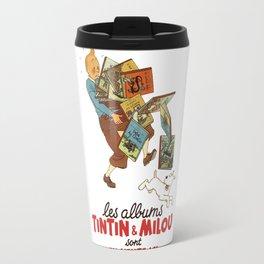 Les Albums Tintin and Milou Sont en Vente Icı Travel Mug