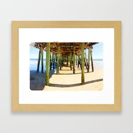 Gooch's Beach Sunset Framed Art Print