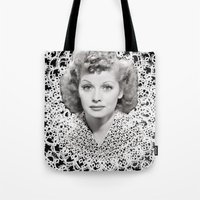 lucy Tote Bags featuring lucy by RULES OF REFRACTION