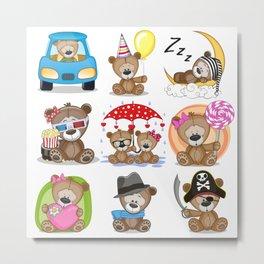 Various Bears Metal Print