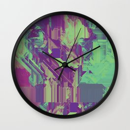 Glitchy 1 Wall Clock