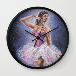 Repainted Ballerina in Spotlight Wall Clock