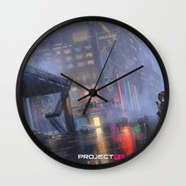 Black Hair Girl Original Artwork Wall Clock