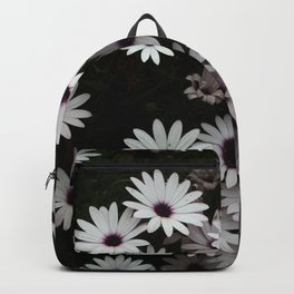 White African Daisies In A Flower Bed Backpack