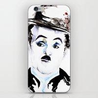 charlie chaplin iPhone & iPod Skins featuring Charlie Chaplin by Anastasia Efthias