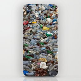 pollution by plastic bottles iPhone Skin