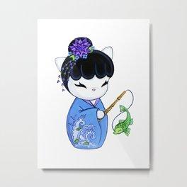 Dragon Fish Print Metal Print