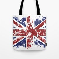 uk Tote Bags featuring Grunge UK by Sitchko Igor