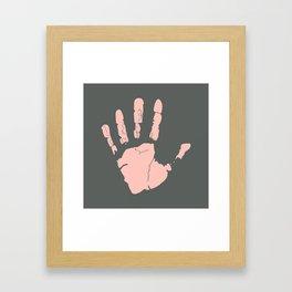 Pink Handprint Framed Art Print