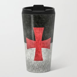 Knights Templar Symbol with super grungy textures Travel Mug
