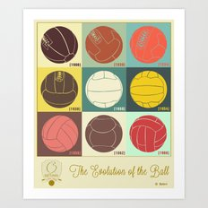 The Evolution of the Ball Art Print