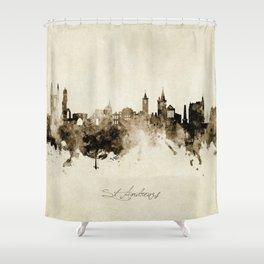St Andrews Scotland Skyline Shower Curtain