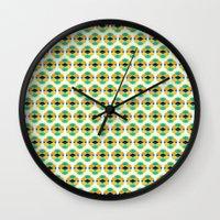 eggs Wall Clocks featuring Eggs by AZRI AHMAD