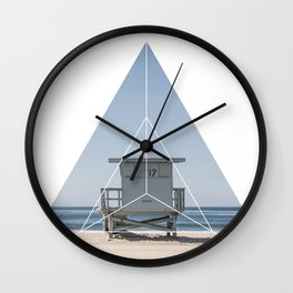 Beach Life  Geometric Photography Wall Clock