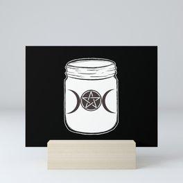 Mystical Magic Moons Mason Jar Mini Art Print