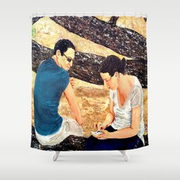 Surrounded by peaceful nature, forgetting the time    Shower Curtain