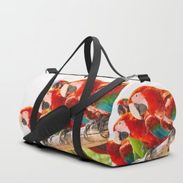 Red macaws Duffle Bag