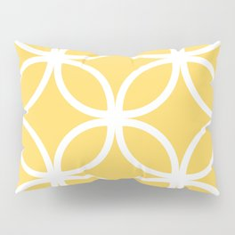 Yellow Geometric Circles Pillow Sham