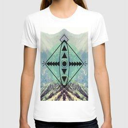 Mountians and Print T-shirt