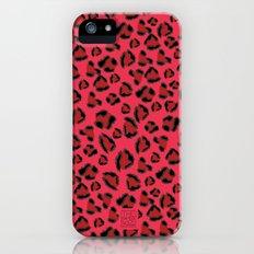 Pink and Red Jaguar Slim Case iPhone (5, 5s)