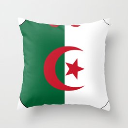 Coat_of_Arms_of_Algeria_(1962-1971) Throw Pillow