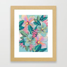 Aqua Ginger Alohas Framed Art Print