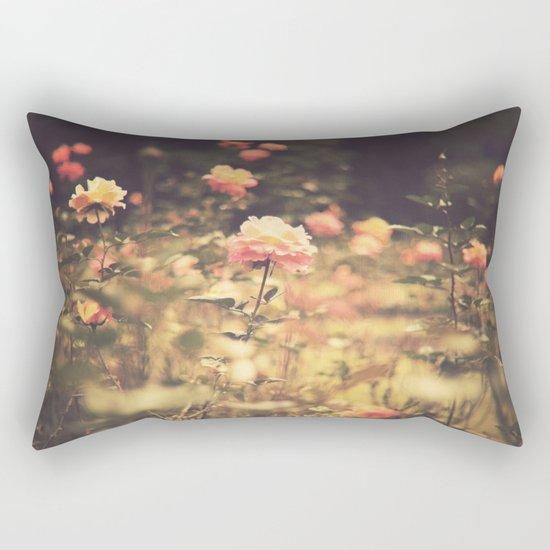 One Rose in a Magic Garden (Vintage Flower Photography) Rectangular Pillow