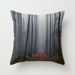 Into the fog Throw Pillow