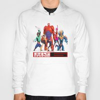 big hero 6 Hoodies featuring Big Hero 6 by ezmaya