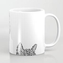Cat / T-Rex : Happy / Not Happy Coffee Mug