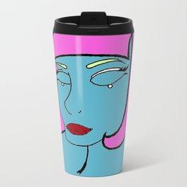 Blue woman Metal Travel Mug