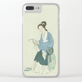 Li Wan, Chinese Painting and Calligraphy Print, Twelve Beauties of Jinling of Famous Literary Clear iPhone Case