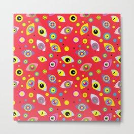 Multi-colored eyes (red) Metal Print