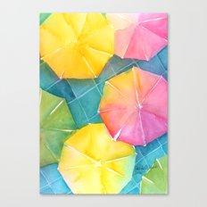 Rainy Day Umbrellas Canvas Print