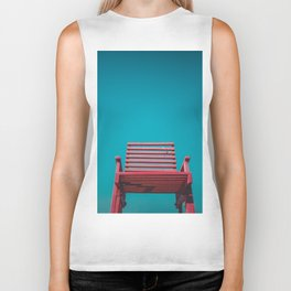 Red Chair in the Sky Biker Tank