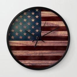 American Flag I Wall Clock